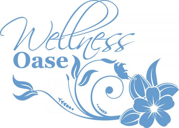 Wandtattoo für Badezimmer Wellness Oase Blume