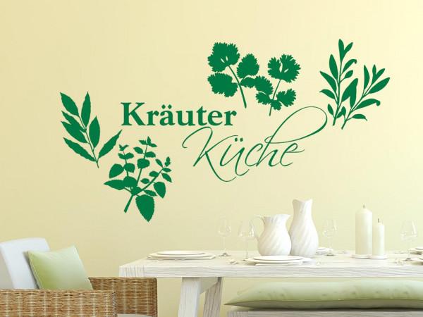 Wandtattoo Küche Schriftzug Kräuter Küche mit Kräutern
