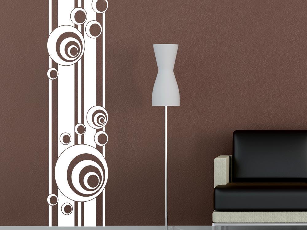 Wandtattoo Wandbanner Retro Kreise Wohnzimmer Retro Wandtattoo Graz Design