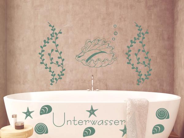 Wandtattoo Set Badezimmer Unterwasser