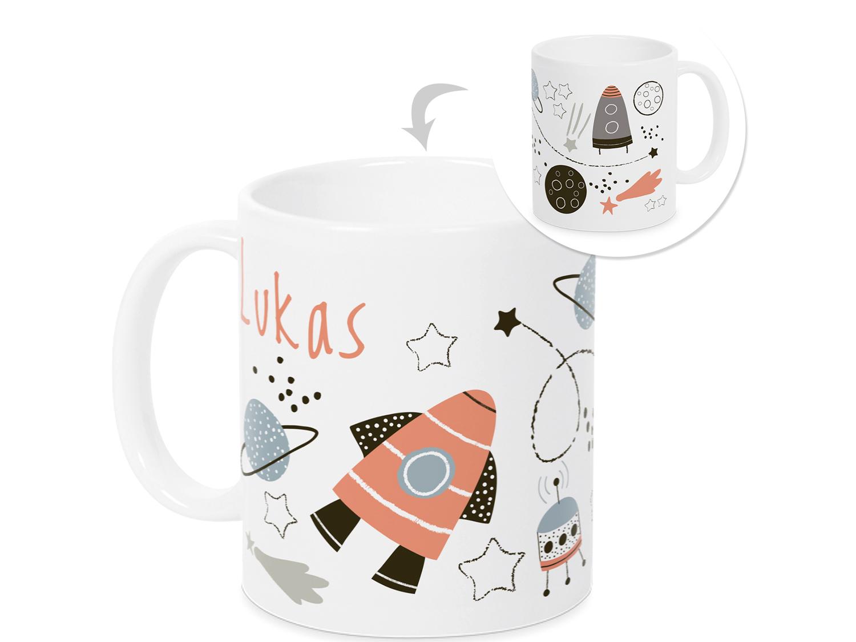 Kaffeetassen Becher Mobel Wohnen Einschulung Geschenk Junge Tasse Kindertasse Rakete Weltall Schulbeginn Kinder Fr Regnum Be