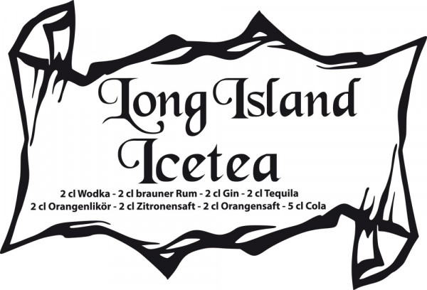 Wandtattoo Küche Cocktail Long Island Icetea
