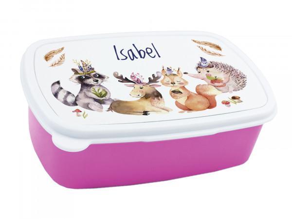 Brotdose Kinder mit Namen für Mädchen Waldtiere