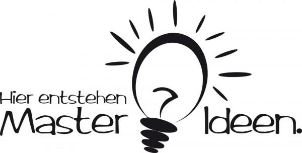 Wandtattoo Wandaufkleber Wand Deko Büro Master Ideen Glühbirne Erfindung