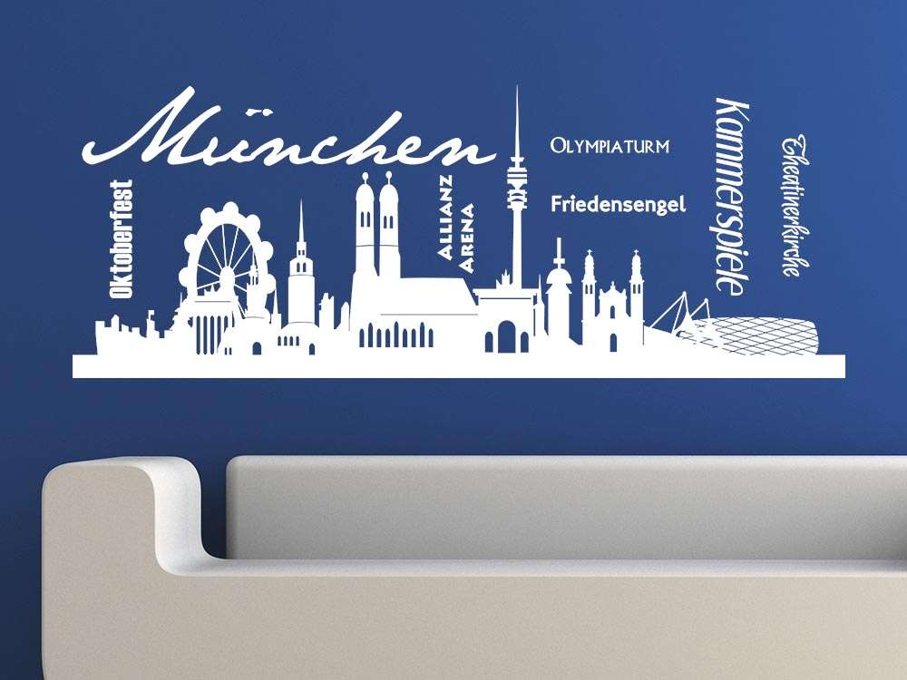 Dekoration Wandtattoo Wandtattoo 1860 Munchen Skyline Blau Mobel Wohnen Tmp Tozi Media