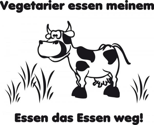 Wandtattoo Küche Spruch Vegetarier essen meinem Essen mit Kuh
