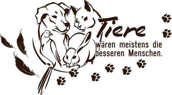 Wandtattoo Sprüche für Wohnzimmer Spruch Tiere Katze Hund Papagei Pfoten Deko