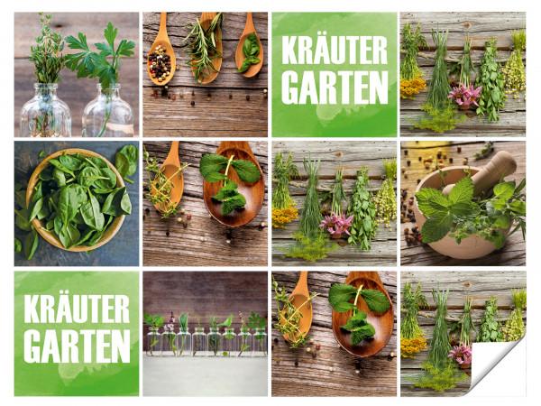 Fliesenaufkleber Küche Kräuter Garten