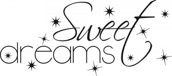 Wandtattoo Wandworte Sweet dreams für Ihr Schlafzimmer