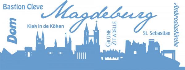 Wandtattoo Skyline Magdeburg Dom Städte Länder Cleve Kiek in de Köken