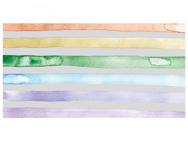 Sichtschutzfolie - Regenbogen Streifen