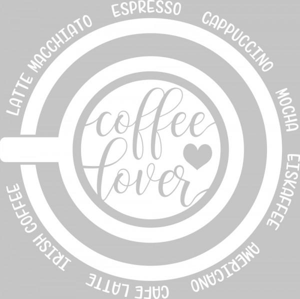 Wandtattoo Küche Kaffeetasse mit Wörtern
