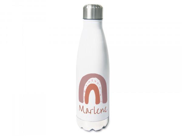 Trinkflasche personalisiert mit Namen und Regenbogen