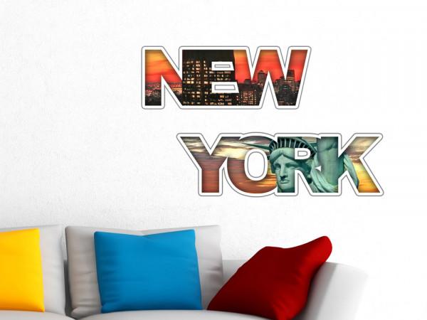Wandsticker New York mit Freiheitstatue