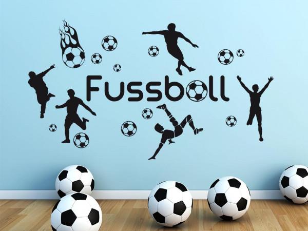Wandtattoo Set für Kinderzimmer Fußball Bälle Sport Jungs