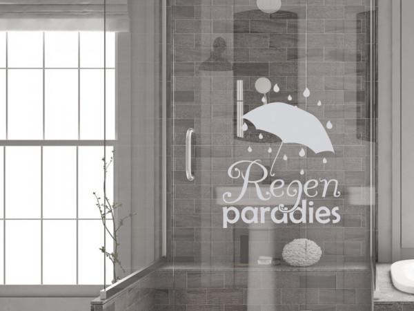 Fensterfolie für Duschkabine Regenschirm Dusche