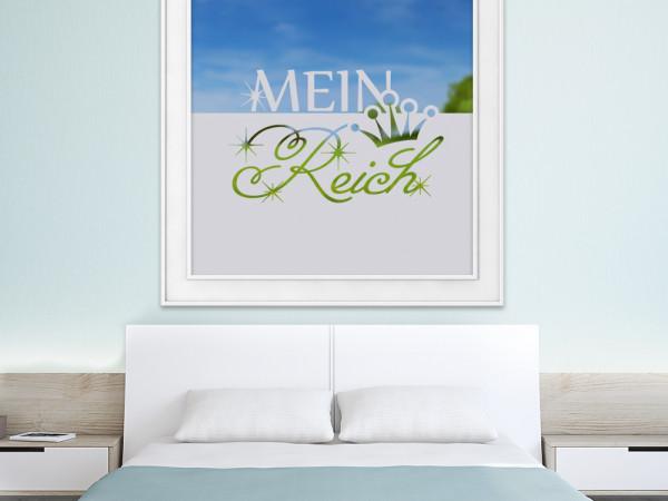 Sichtschutzfolie Mein Reich Krone