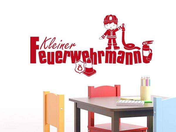 Wandtattoo Spruch Kleiner Feuerwehrmann
