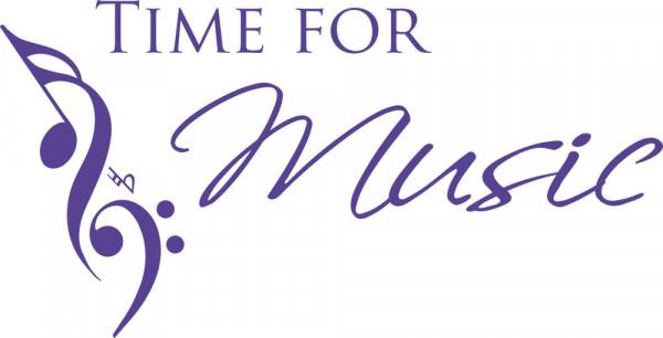 Wandtattoo Time for Music mit Noten Musik