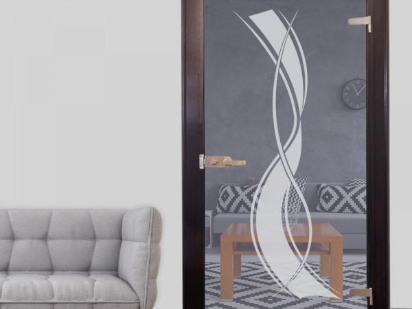 Fenstertattoo für Dein Wohnzimmer mit Streifen