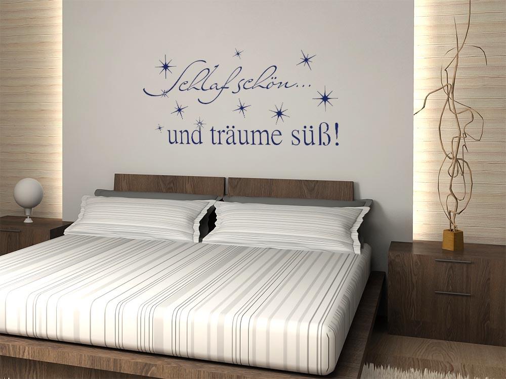 Spr che f r schlafzimmerwand