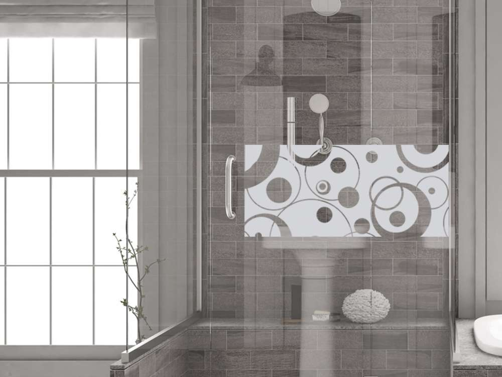 Glasdekor Fensterfolie Aufkleber Sichtschutz Badezimmer WC Bad Dusche Retro  | Bad | Fenstertattoo | Fensterfolie | Graz Design