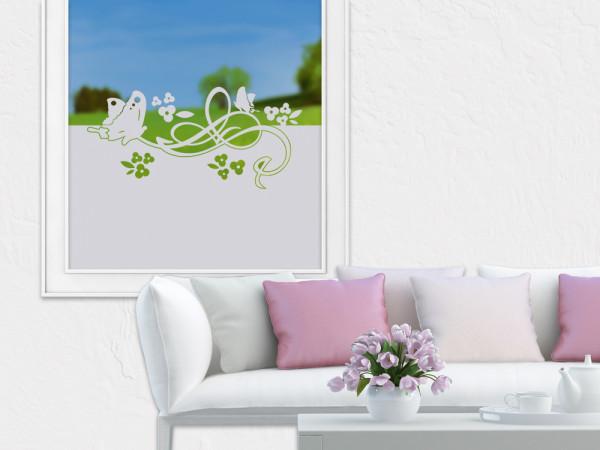 Sichtschutzfolie Schmetterlinge mit Blumen