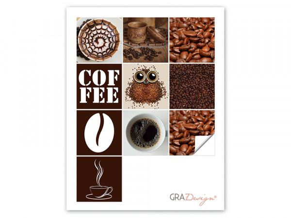 Fliesenaufkleber im Set Küche verschiedener Kaffee