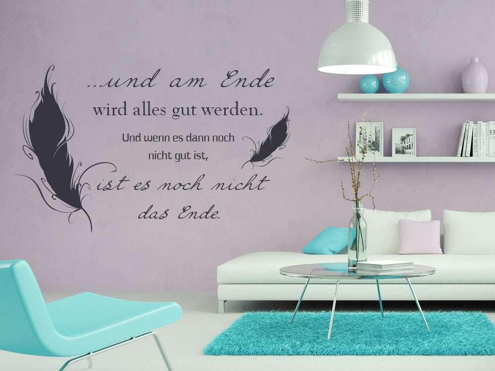 Wandtattoo Fur Dein Wohnzimmer Mit Einem Tiefsinnigen Spruch