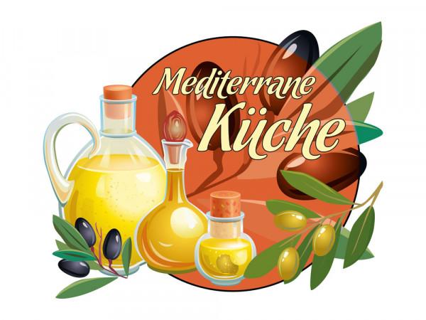 Wandsticker Wandtattoo Wandaufkleber Küche Mediterrane Küche Olivenöl