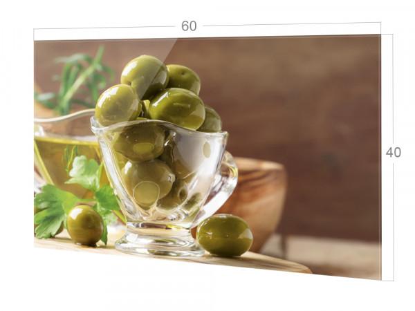 Spritzschutz Küche Herd, Oliven Grün Braun