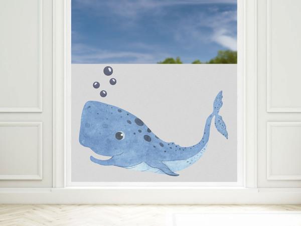 Fensterfolie Bad Wal maritim, Sichtschutzfolie