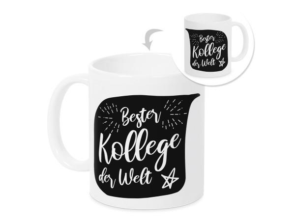 Kaffeebecher Bester Kollege der Welt Tasse Geschenk
