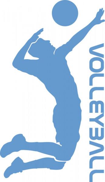 Wandtattoo Sport Volleyball mit Spieler und Ball