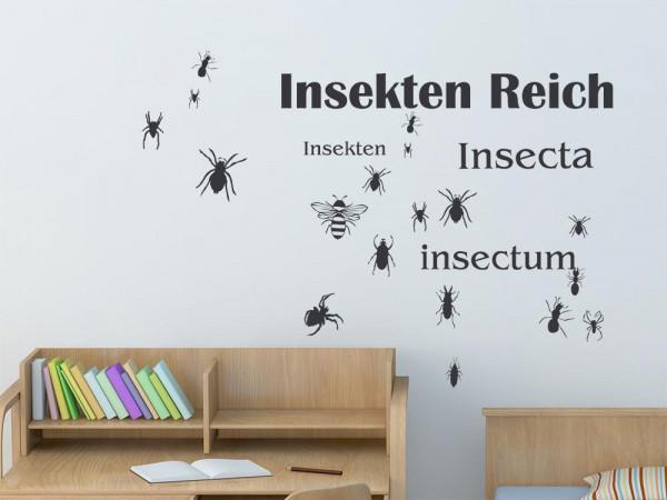 Wandtattoo Set Kinderzimmer Tiere Insekten Reich Spinnen Ameisen Biene