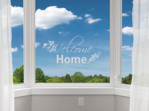 Fenstertattoo Welcome Home für Flur, Fensterbild
