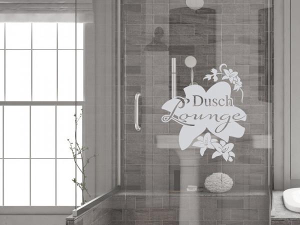 Fensterfolie Dusch Lounge für Badezimmer