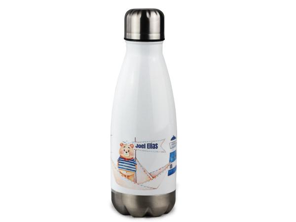 Trinkflasche personalisiert mit Namen Matrose mit Leuchtturm