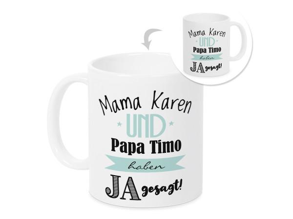 Mama und Papa haben ja gesagt - Geschenkidee von Kindern an Eltern