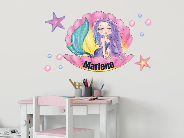 Wandtattoo Meerjungfrau mit Namen