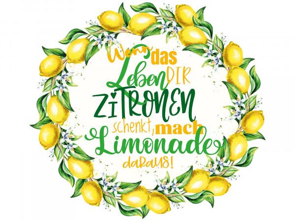 Wandtattoo - Zitronen mit Spruch