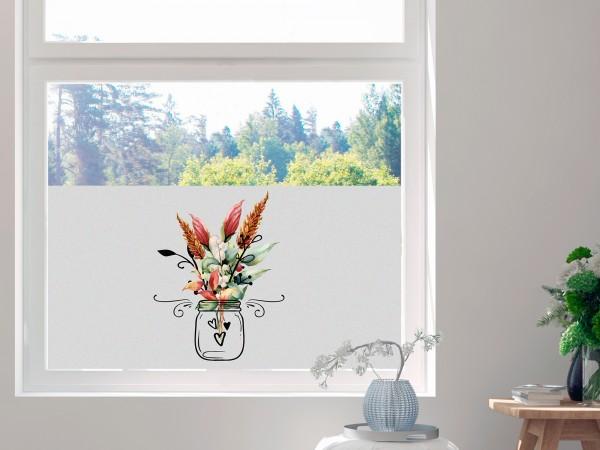 Sichtschutzfolie Blumen