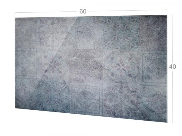 Spritzschutz Küche Grau mit Fliesenmuster, dezent