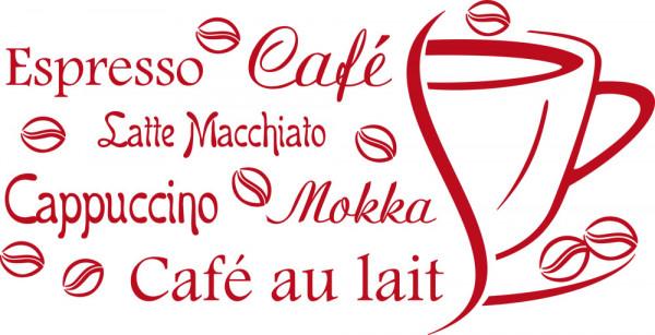 Wandtattoo für Küche Sprüche Espresso