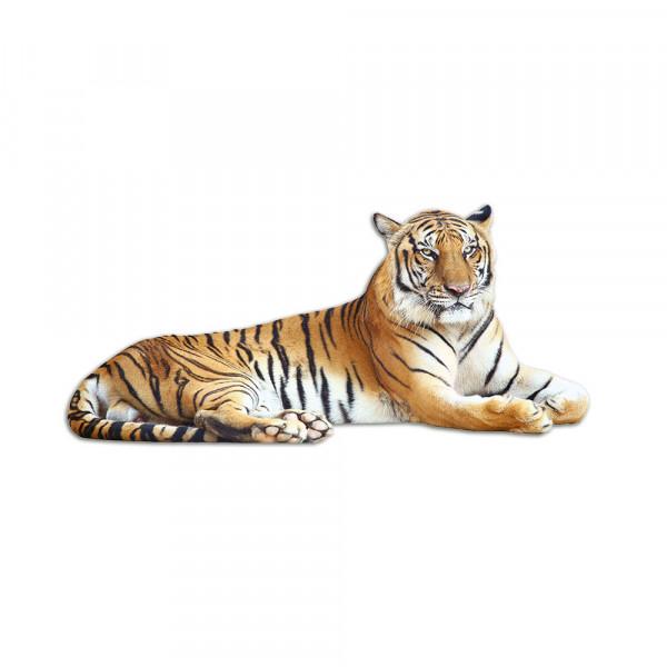 Wandsticker Tiger liegt entspannt