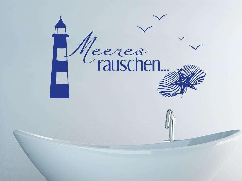 Wandtattoo Delfin & Wandsticker Delphin für Bad oder Kinderzimmer