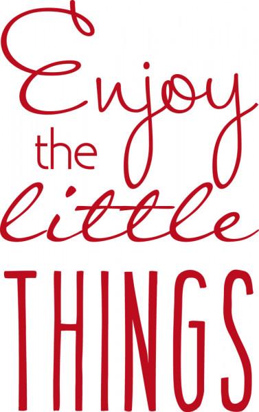 Wandtattoo für Wohnzimmer Spruch Enjoy little things
