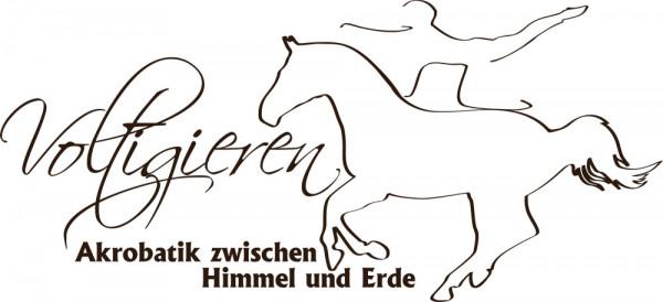 Wandtattoo Sport Voltigieren Akrobatik mit Pferd