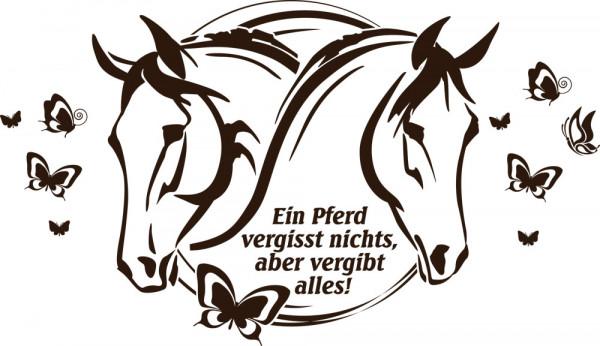 Wandtattoo Tiere Sprüche Kinderzimmer für Wohnzimmer Ein Pferd vergisst nichts