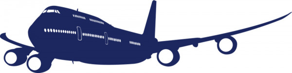 Wandtattoo Kinderzimmer Flugzeug im Landeanflug